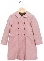 Bonpoint Girls' Double-Breasted Corduroy Coat
