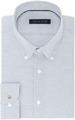 Tommy Hilfiger Men's Dress Shirt Slim Fit Stretch Check