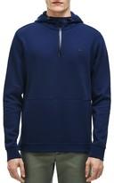 Lacoste Piqué Double Face Half-Zip Hoodie Sweatshirt