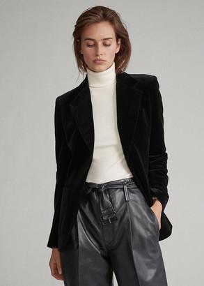 Ralph Lauren Velvet One-Button Blazer