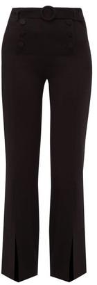 Jonathan Simkhai High-rise Belted Crepe Trousers - Black