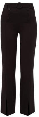 Jonathan Simkhai High-rise Belted Crepe Trousers - Womens - Black
