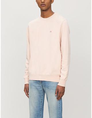 Calvin Klein Logo-embroidered cotton-jersey sweatshirt