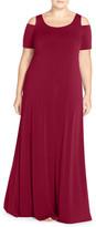 Mynt 1792 Cold Shoulder Maxi Dress (Plus Size)