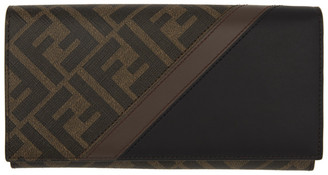 Fendi Brown and Black Forever Continental Wallet
