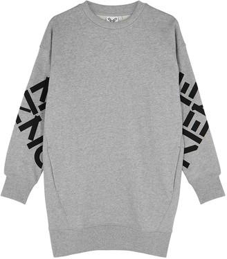 Kenzo Grey Cotton-blend Sweatshirt Dress
