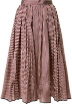 Tome flared stripe skirt