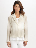 Eileen Fisher Notched-Collar Jacket