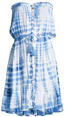 Tiare Hawaii Ryden Tie-Dye Drawstring Mini Dress