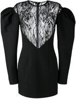 Saint Laurent drop puff sleeve mini dress