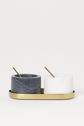 H&M Stone Salt and Pepper Bowls