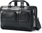 Samsonite Professional Leather 2 Pocket Laptop Briefcase