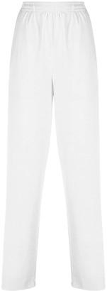 Koché Stripe Detail Velvet Trousers