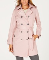 Michael Kors Michael Belted Double-Breasted Hooded Trench Coat