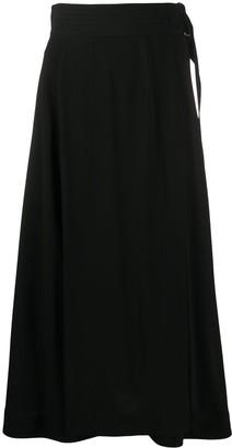 Victoria Beckham Cutout-Back Midi Skirt