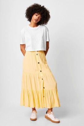 French Connection Easha Drape Button Front Skirt