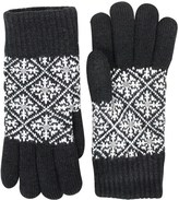 FITS Accessories Snowflake Jacquard Knit Gloves - Chenille Lined (For Women)