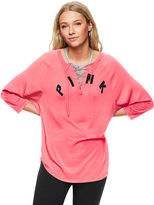 PINK Super Soft Lace-Up Jersey Tee