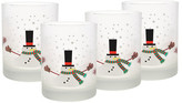Culver White Melting Snowman Glass - Set of 4
