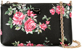 Dolce & Gabbana mini rose print shoulder bag - women - Leather - One Size