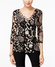inc international concepts printed ruched blouse only at macys