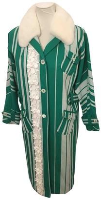 Miu Miu Green Fur Coat for Women