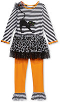 Bonnie Jean Little Girls' 2-Pc. Halloween Cat Tunic & Leggings Set