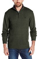 U.S. Polo Assn. Men's Quarter-Zip Cable-Knit Sweater