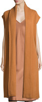 DKNY Long Cashmere Shawl-Collar Vest, Copper