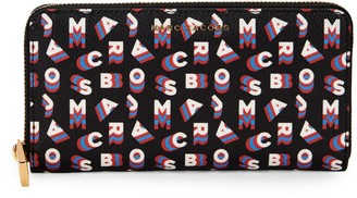 Marc Jacobs Logo Print Continental Wallet
