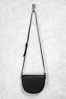 Forever 21 FOREVER 21+ Faux Leather Half Moon Bag