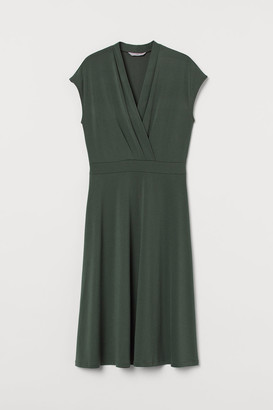 H&M V-neck Dress - Green