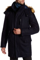 Andrew Marc Brewster Faux Fur Trim Hooded Jacket