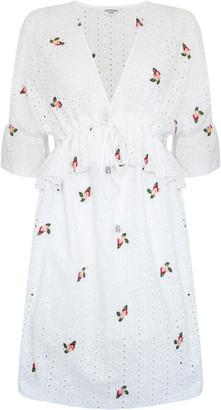 Jovonna London VICTORIA Dress Embroidery Lace White - XS