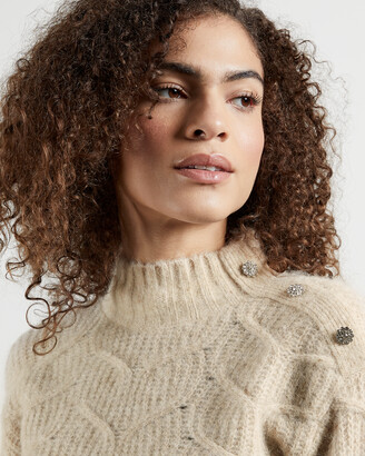 Ted Baker TALIIEY Chunky cable button detail sweater