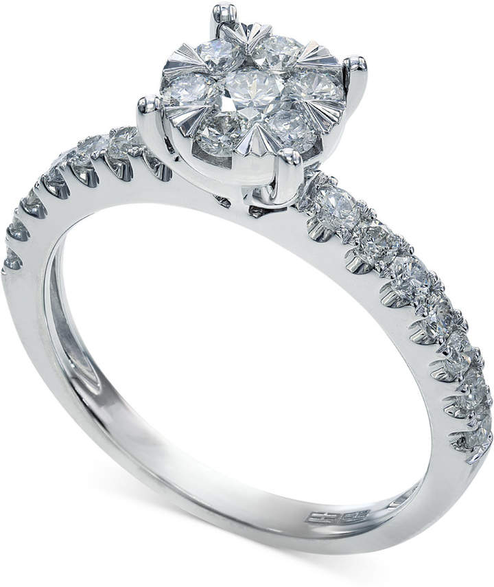 Effy Bouquet by Diamond Engagement Ring in 14k White Gold (3/4 ct. t.w.)