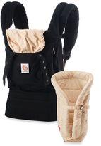 Ergo ErgobabyTM Original Collection Bundle of Joy Carrier in Black/Camel with Infant Insert in Camel