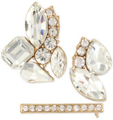 INC International Concepts M. Haskell for 3-Pc. Gold-Tone Crystal Cluster Pin Set, Only at Macy's