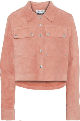 Acne Studios Saghe Cropped Suede Jacket