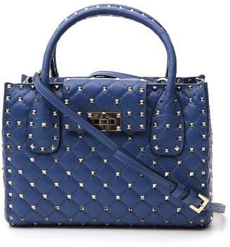 Valentino Garavani Rockstud Logo Tote Bag