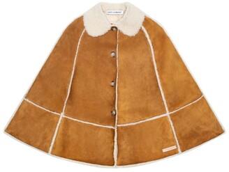 Dolce & Gabbana Kids Leather Cape (8-12 Years)