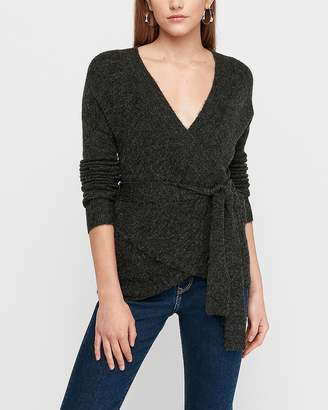 Express Wrap Front Sash Tie Tunic Sweater