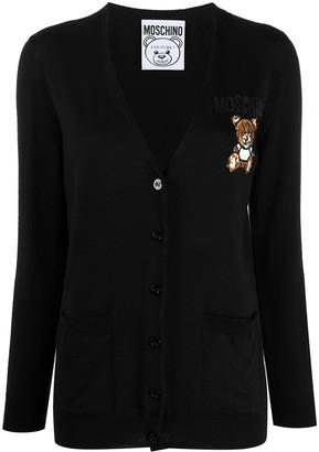 Moschino Teddy bear bead-embellished cardigan