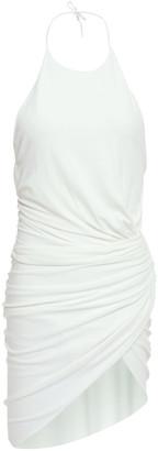 Alexandre Vauthier Open-back Gathered Stretch-crepe Halter Dress