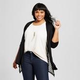 U-knit Women's Plus Size Lace Inset Knit Layering Top