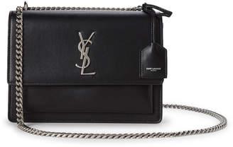 Saint Laurent Black Sunset Small Leather Shoulder Bag