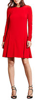 Lauren Ralph Lauren A-Line Long Sleeve Jersey Dress