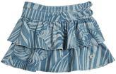 Roberto Cavalli Zebra Printed Denim Skirt