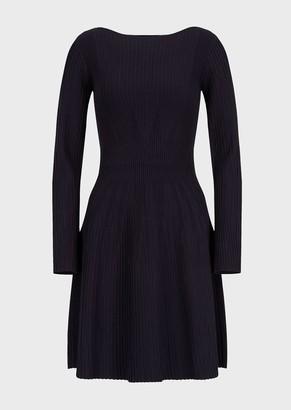 Emporio Armani Knit Dress With Ribbing