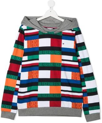 Tommy Hilfiger Junior TEEN colour-block hooded sweatshirt